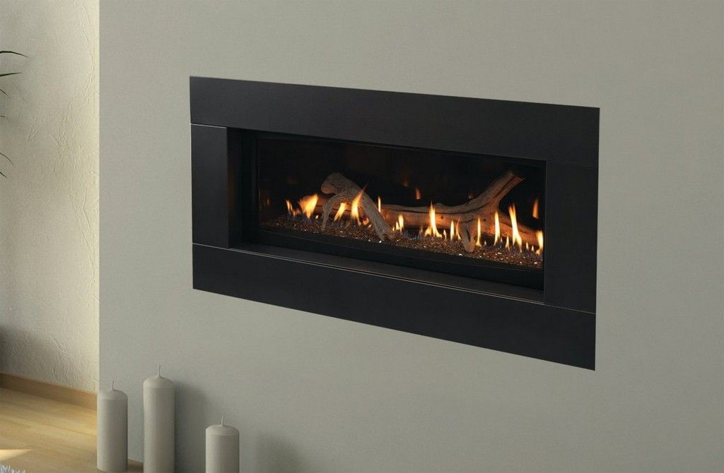 wall mounted gas fireplace