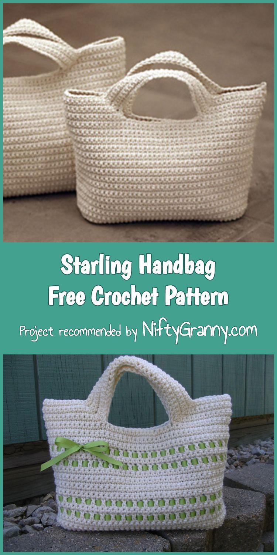 5 Lovely Crochet Handbag Free Patterns