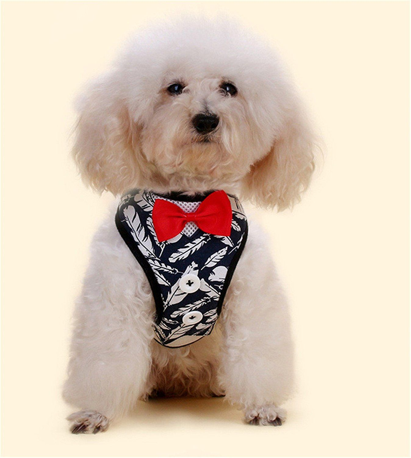 Dog Gentry Chest Harness Dog Cute Bow Tie Vest Harness Cat Dog