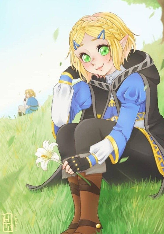Legend Of Zelda Breath Of The Wild Sequel Art Princess Zelda Botw 2 Boohaveit Fan Art Legend Of Zelda Character Art