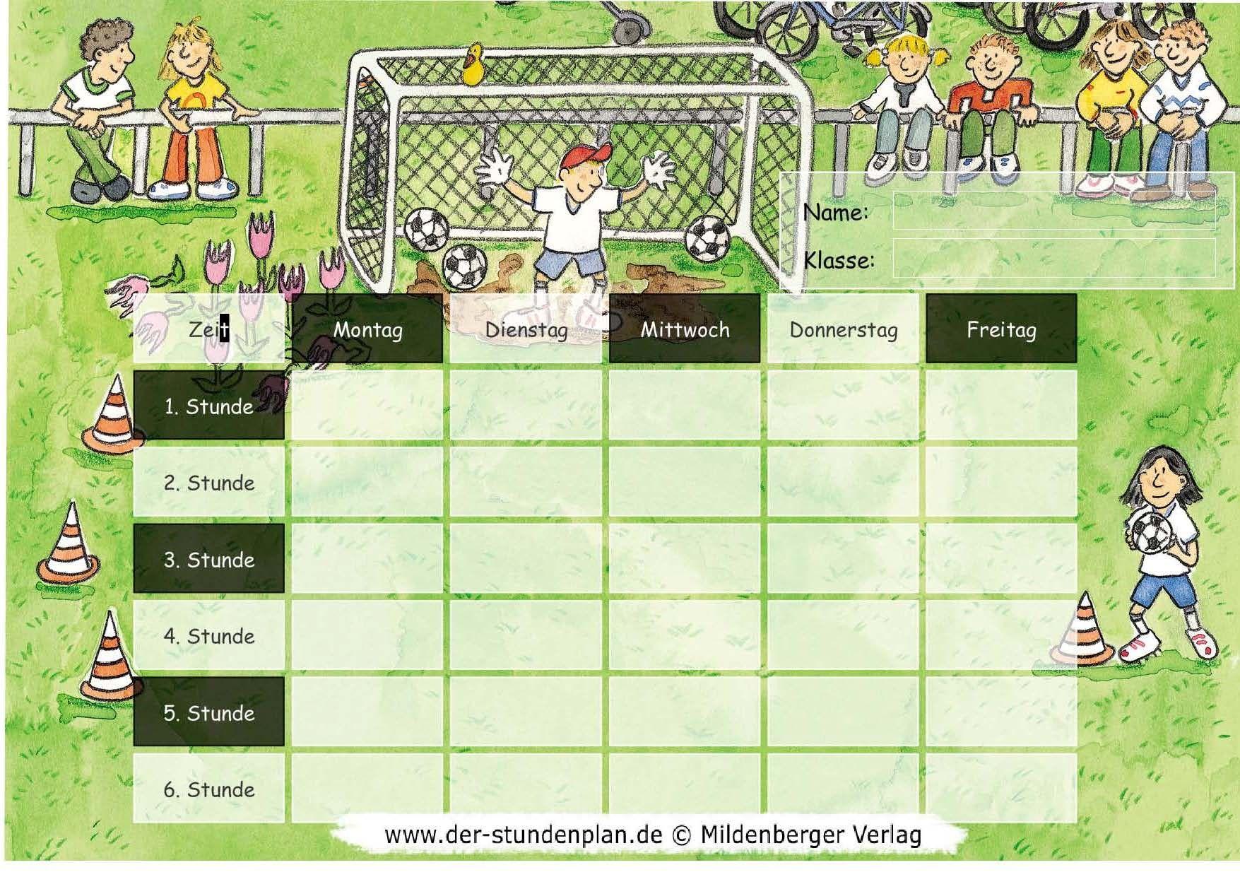 Stundenplan-Vorlage Fußball | Fussball | Pinterest | Stundenplan ...