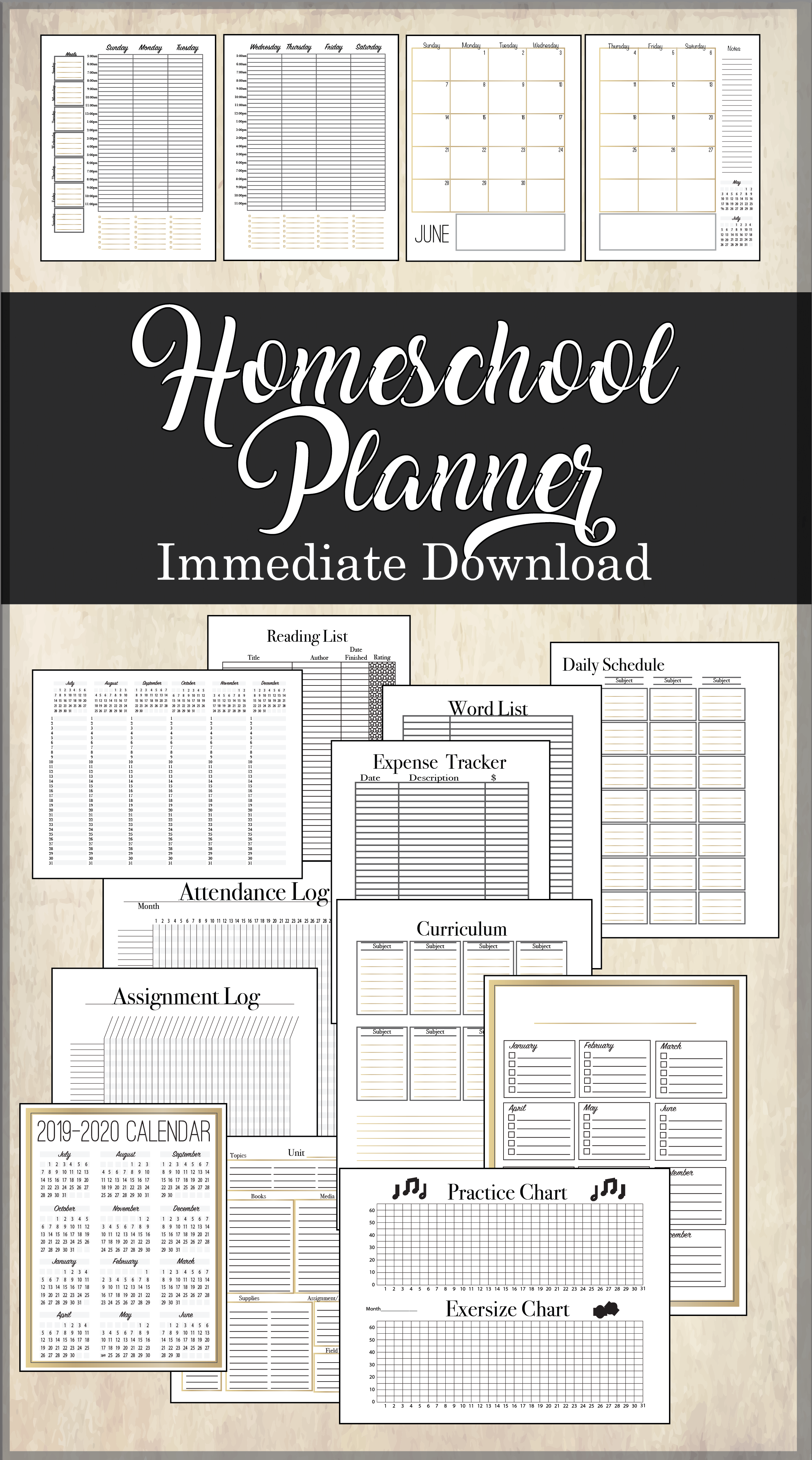 Homeschool Planner Immediate Download