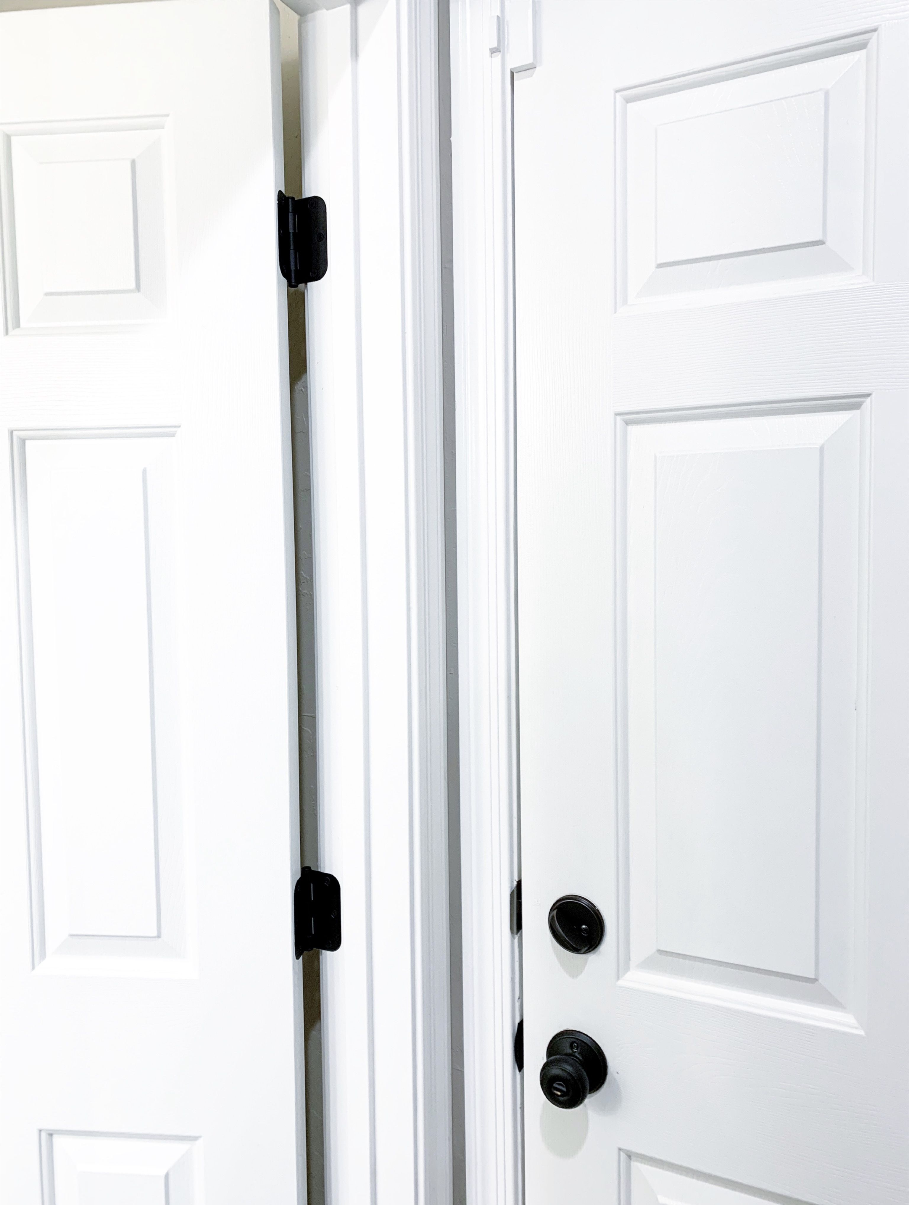 Door Hinges Replaced In 2020 White Doors Black Door Handles Black Door Hinges