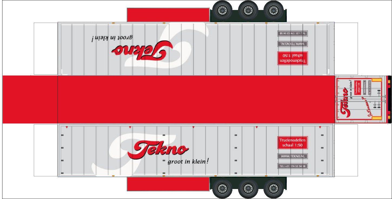 Free Downloadable Printable Paper Models Bouwplaat Van Een Standaard 3 Assige Trailer Vrachtwagens Trailer Truck