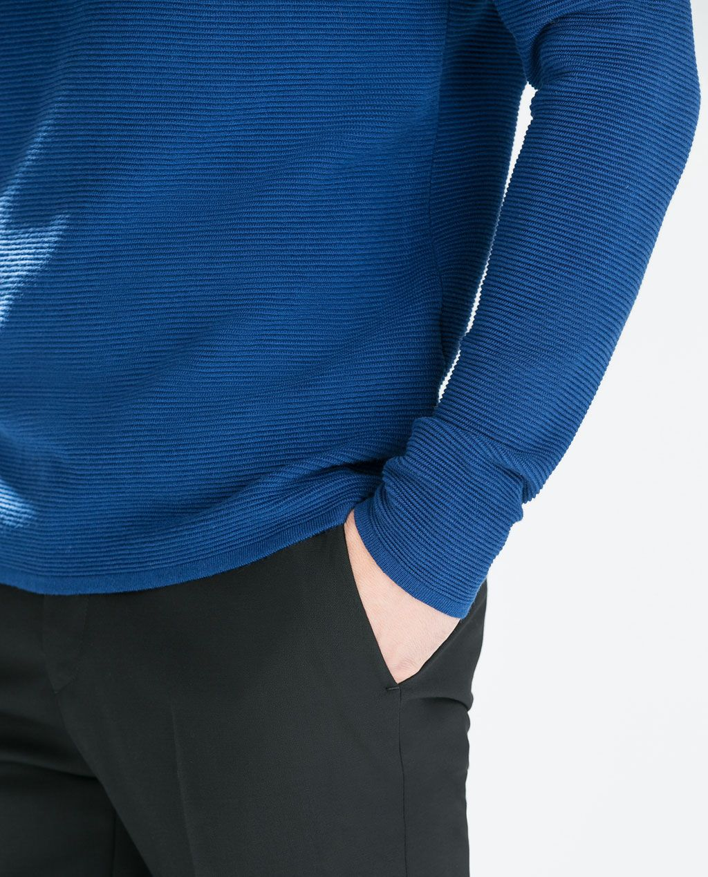 ZARA - MAN - COLORED STRUCTURED SWEATER