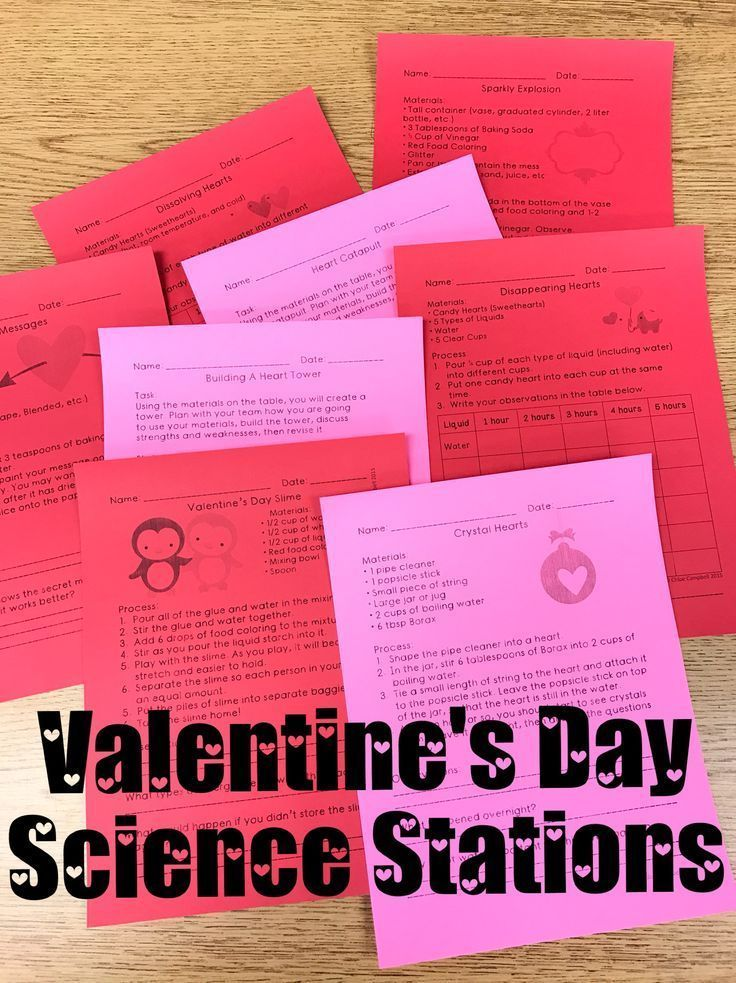 Valentine\'s Day Activities: Science Stations   Science stations ...