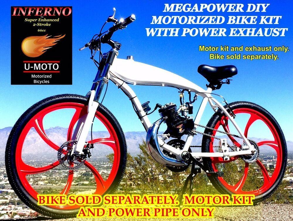 Details About Megapower Diy 2 Stroke 66cc 80cc Motorized Bike Kit