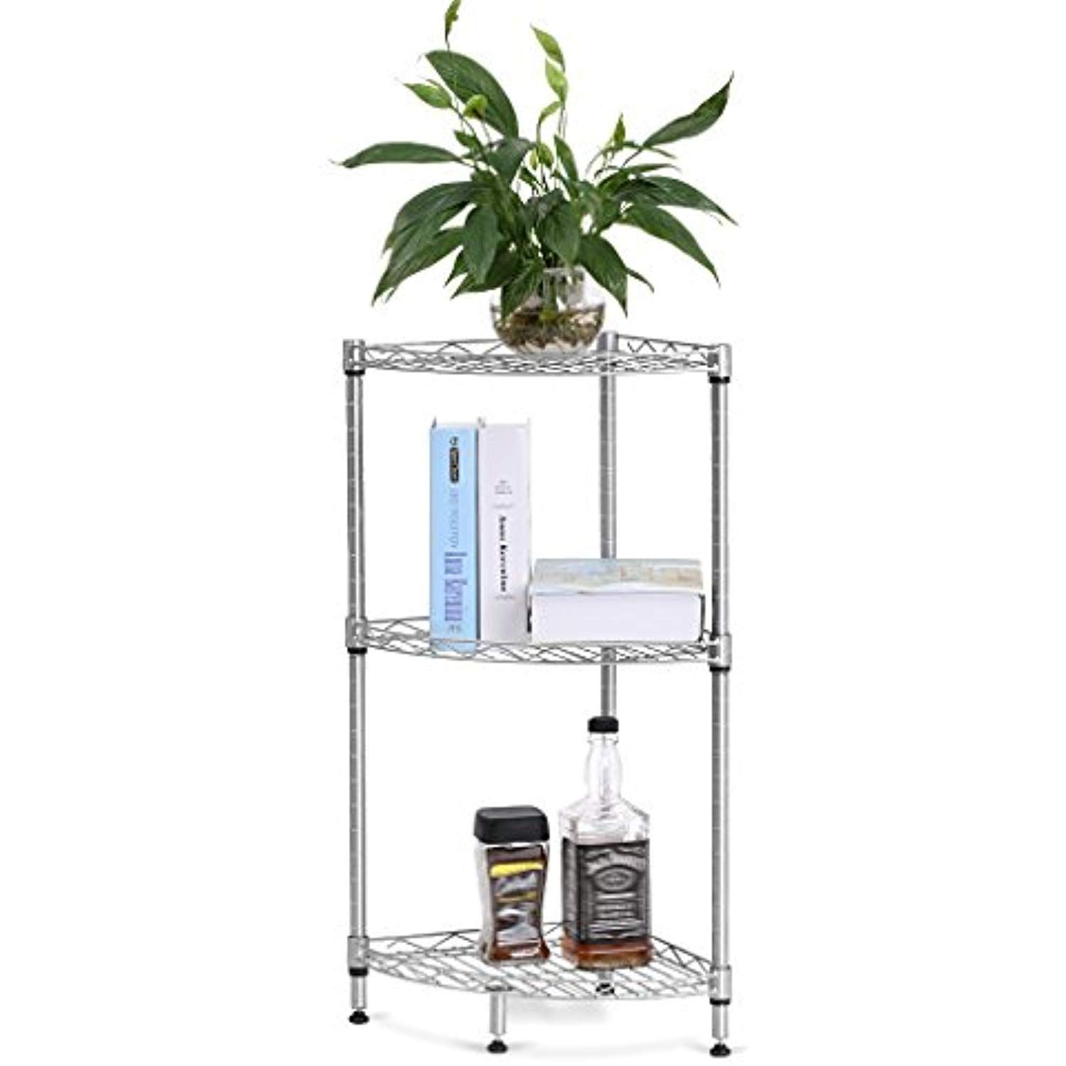 Langria tire corner wire shelf bathroom corner shelf bookcase