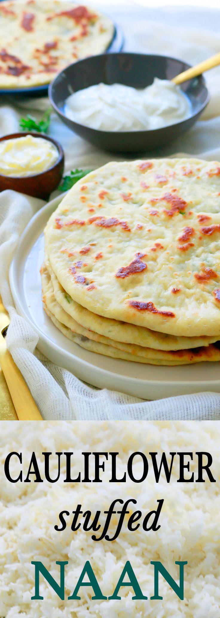 Cauliflower Stuffed Naan Food Recipes Food Indian Food Recipes