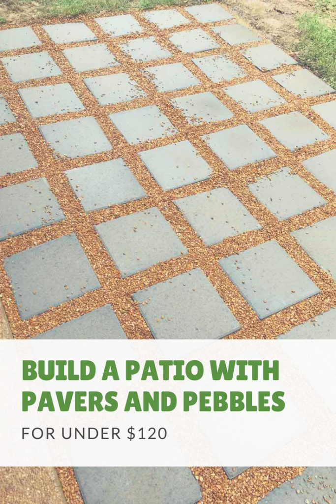How to Build a DIY Patio for Under $120 is part of Diy backyard patio, Patio flooring, Easy patio, Diy patio pavers, Patio stones, Paver patio - This DIY patio was so easy to build and transformed our outdoor space  Here's a quick tutorial for how you can recreate this in your own backyard!