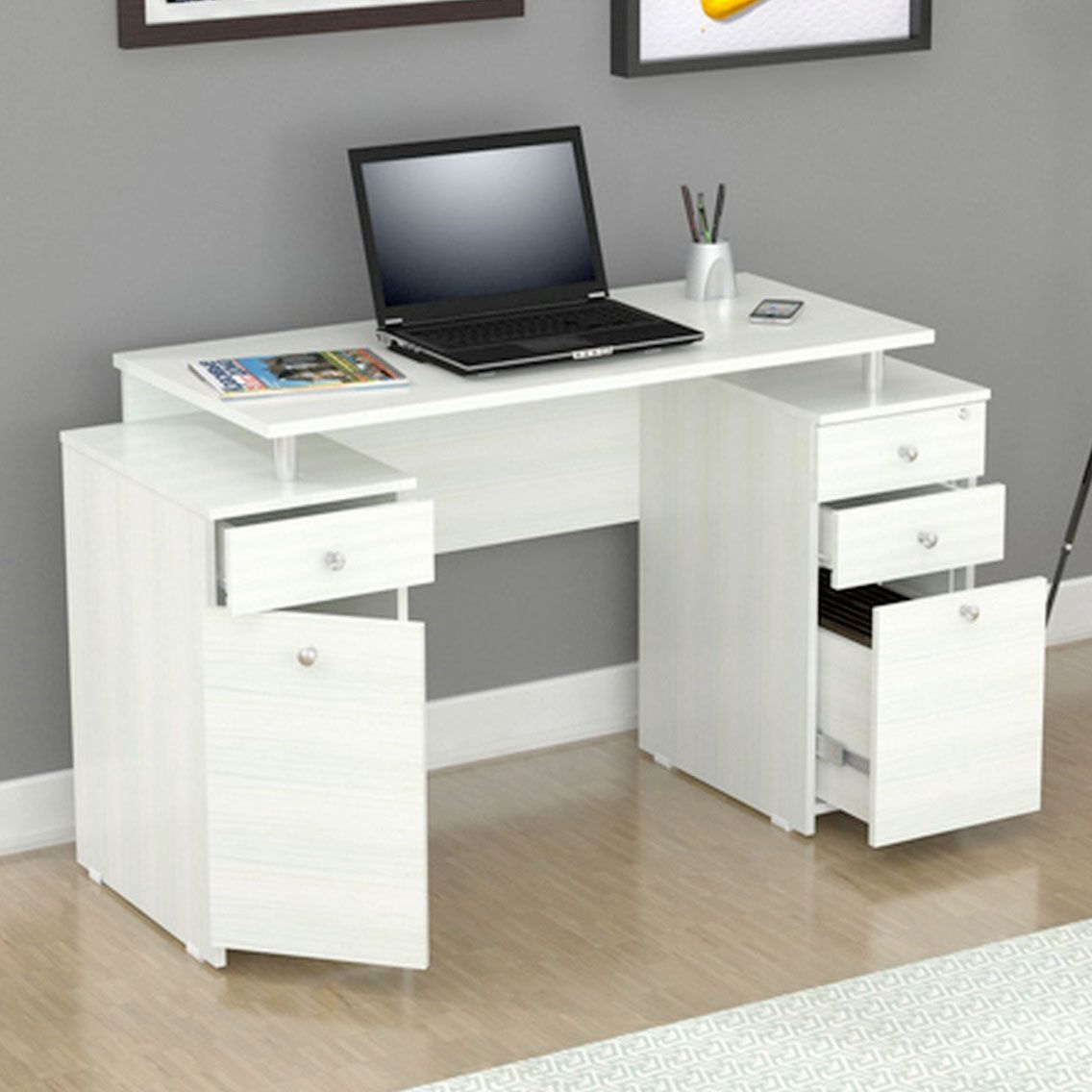 White Writing Desk With Drawers Storage Gift Ideas For Writers Desk With Drawers White Desk With Drawers White Writing Desk