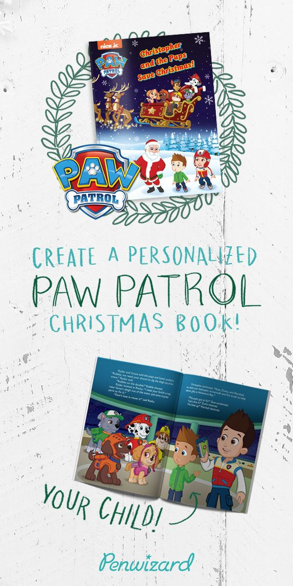 Pups Save Christmas Book.Paw Patrol Christmas Personalized Book Romantic