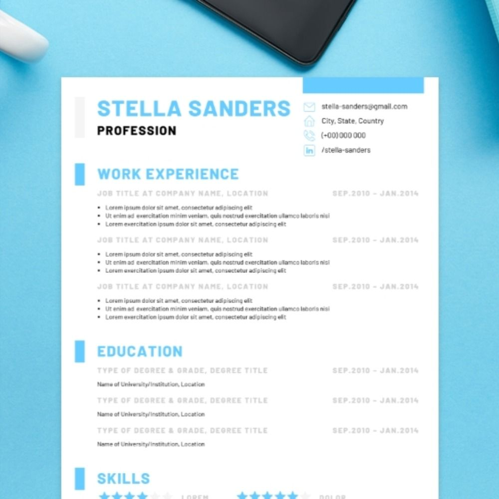 Simple CV Template Creative Instant Download in 2020