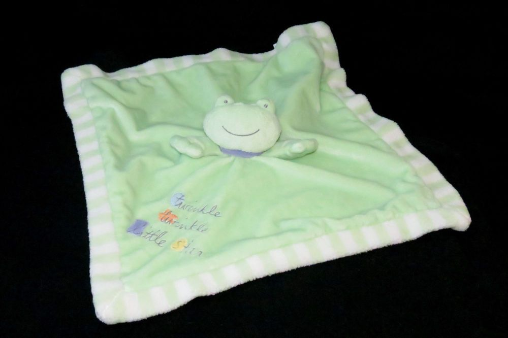 Messages FROM the HEART frog LoVeY SECURITY Blanket TWINKLE little STAR rattle