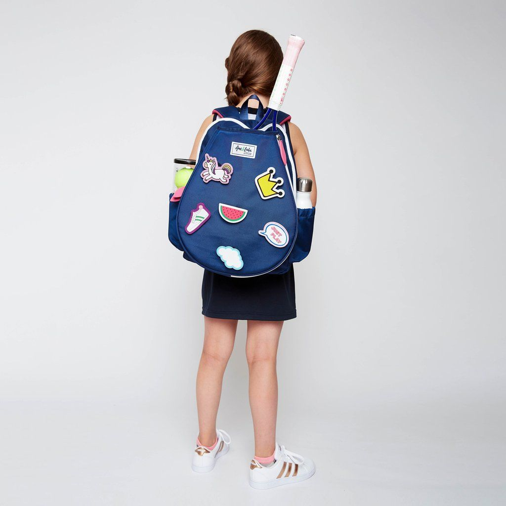 Get Noticed On The Court In The Colorful Kingsley Tennis Backpack This Tennis Bag Has A Snap Closure To In 2020 Tennis Backpack Kids Tennis Bag Tennis Bags Backpacks
