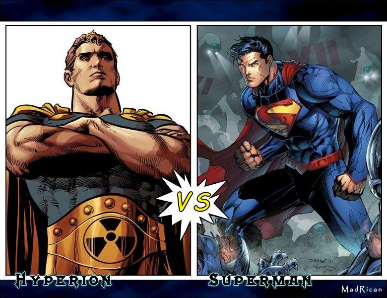 Battle Of The Supermen Hyperion Vs Superman Hyperion Sole Survivor Of A Dead Parallel Universe This Hyperion Has Joi Avengers Parallel Universe Dc Universe