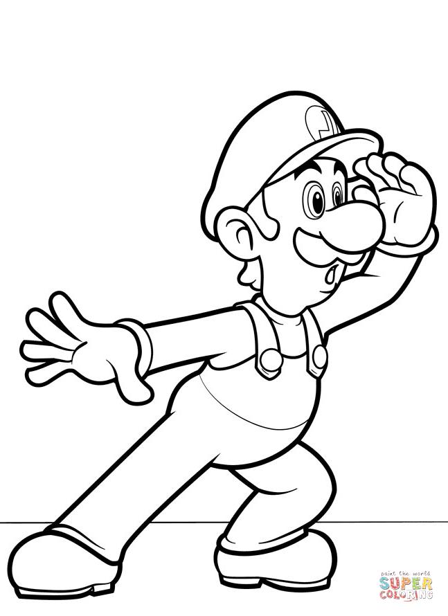 Mario Bros Luigi Super Coloring Coloring Pages Coloring Books Perler Bead Mario