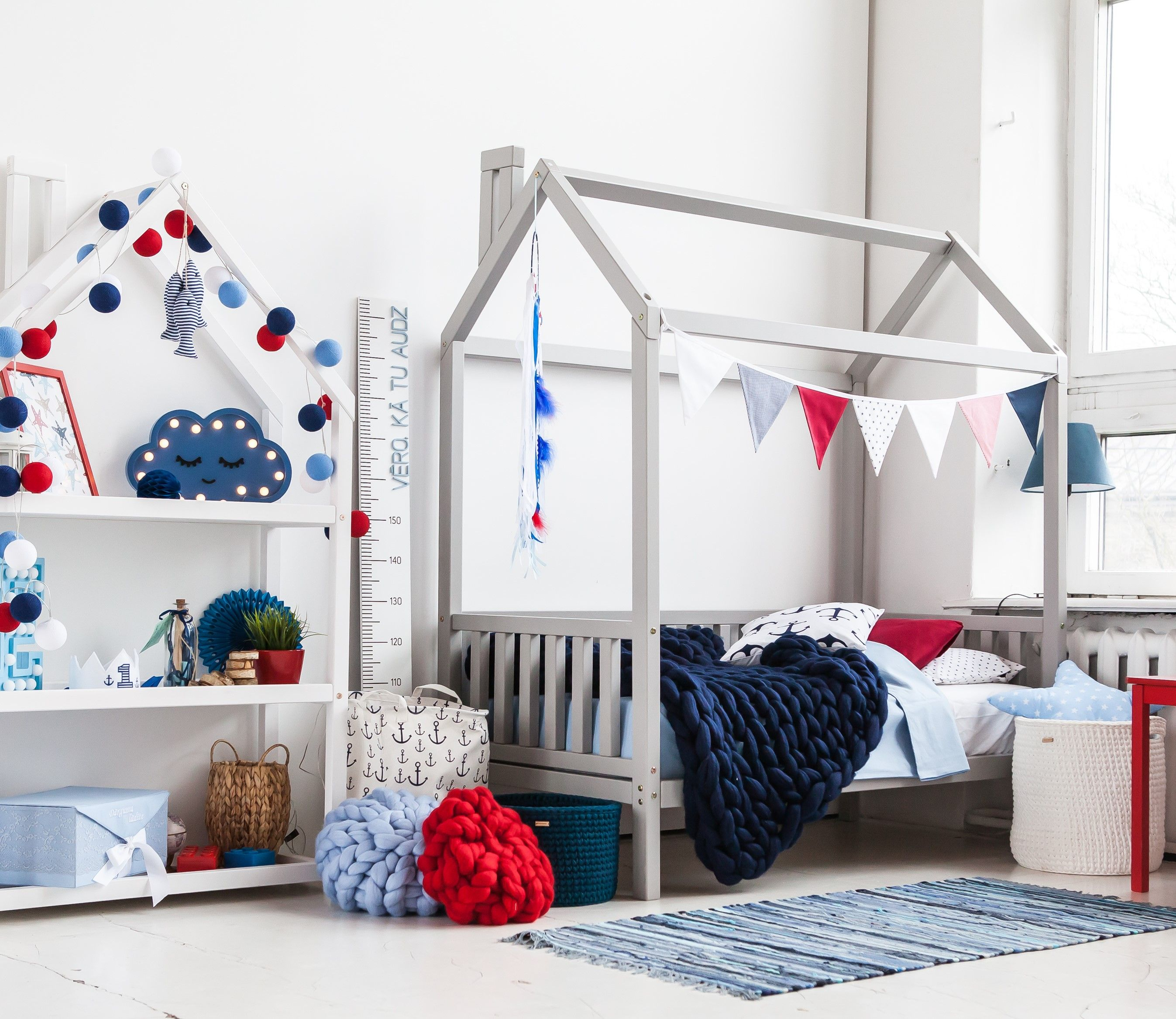 Toddler House Bed With Slats Montessori Bed Teepee Bed Kid Etsy House Frame Bed Toddler House Bed Montessori Bed