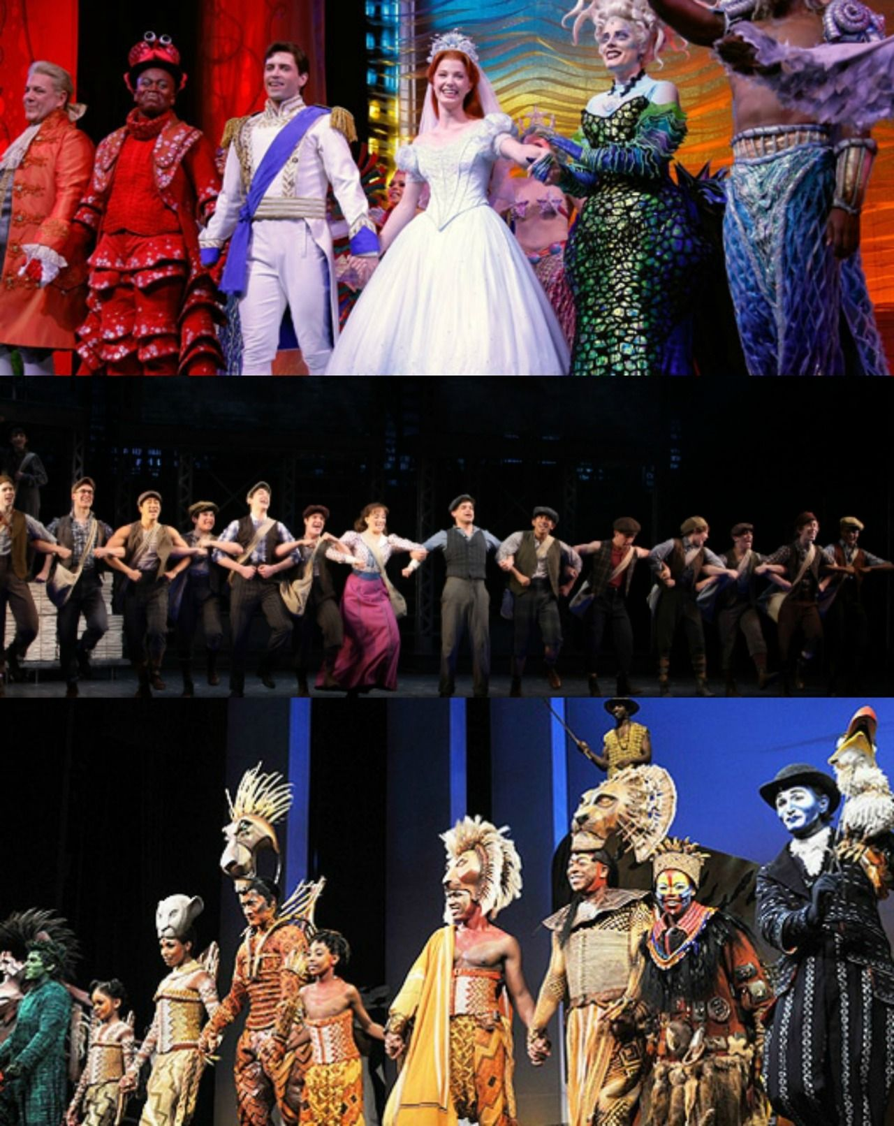 Curtain Calls Disney Style The Little Mermaid Newsies Lion King
