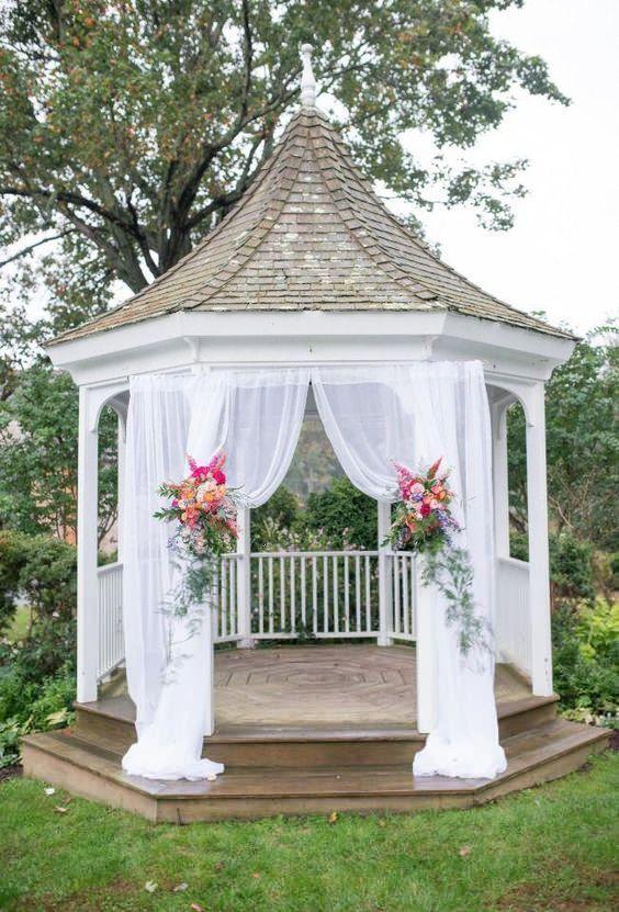 49 Outdoor Wedding Decoration Ideas in Spring & Summer -   13 wedding Ceremony gazebo ideas