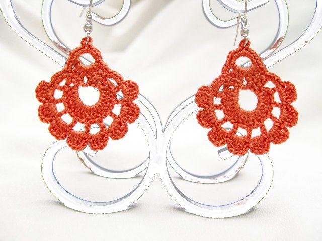 PDF Tutorial Crochet Pattern...Dangle Earrings -19 | aros ...