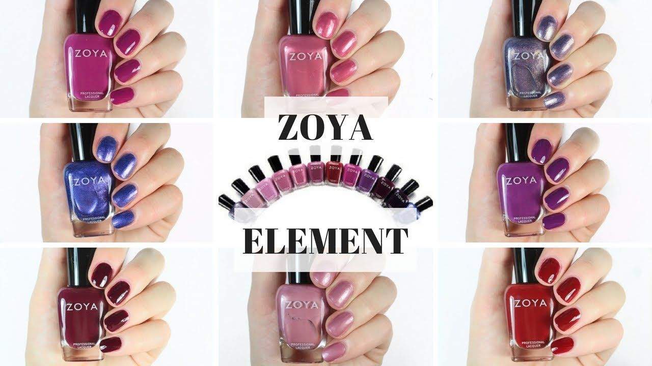ZOYA Element Fall Collection 2018 Swatch and Review