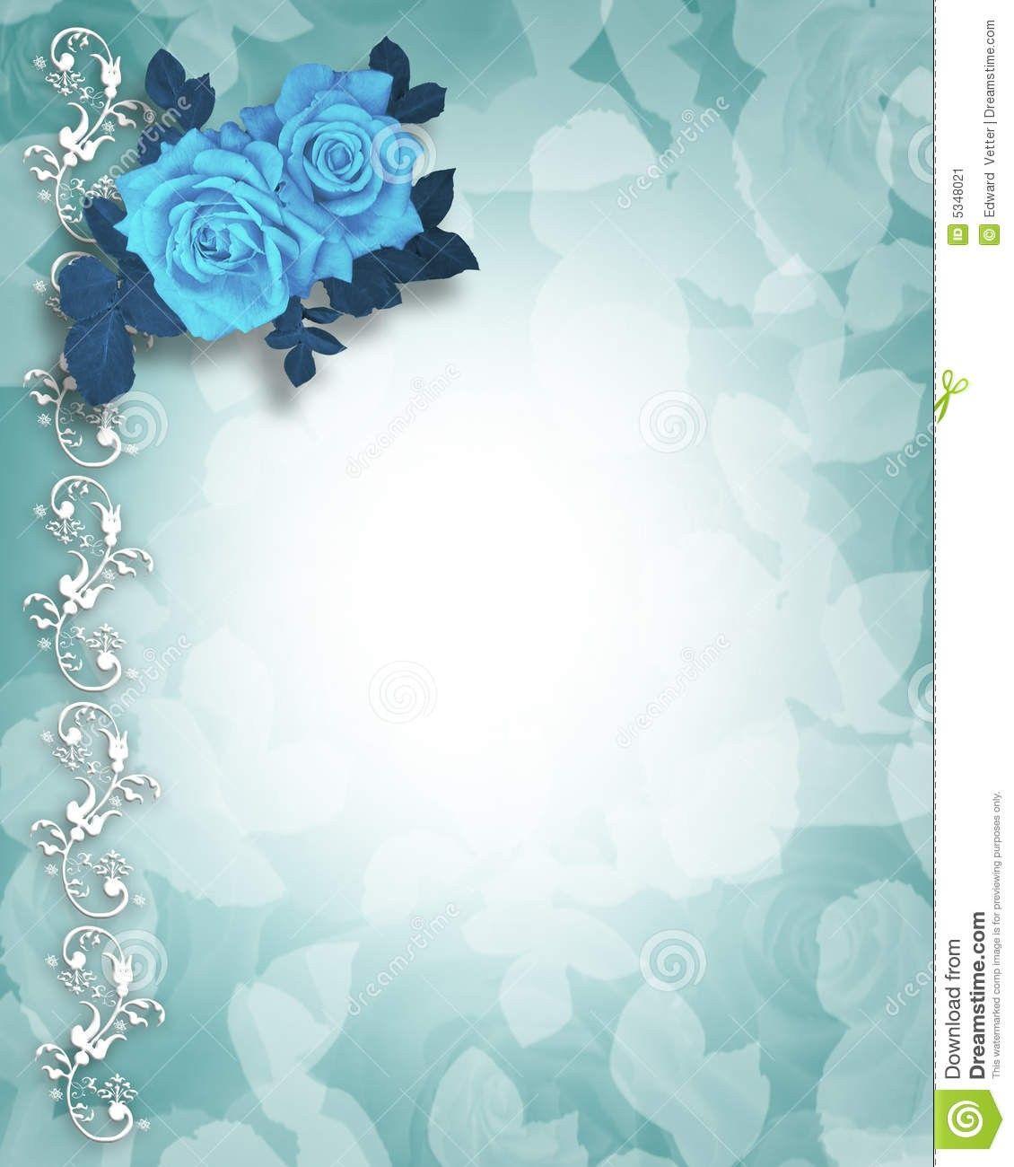 royal blue blank wedding invitation background