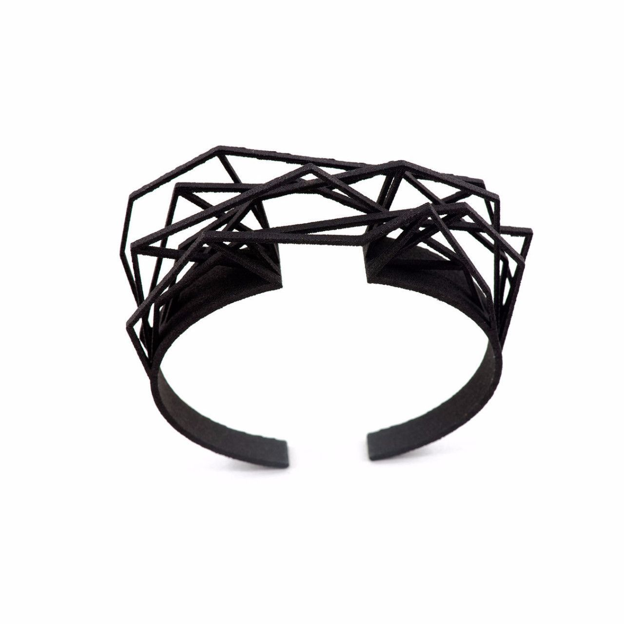 3D Printed Bracelet - Black Nylon