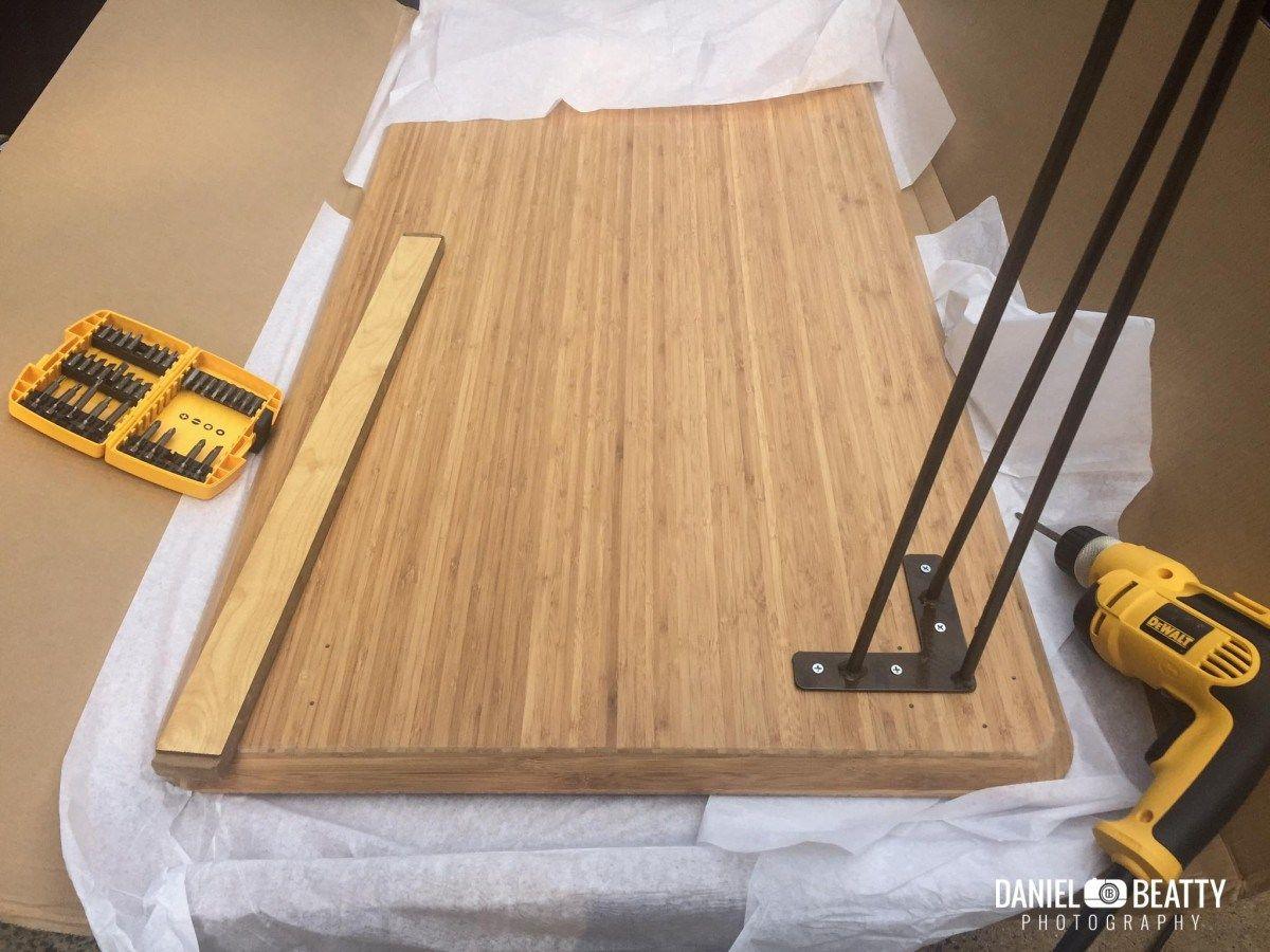 Bamboo and steel: ikea hilver standing desk arbeitsplatz