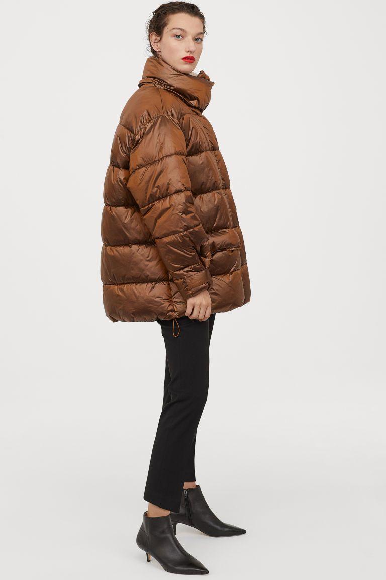 Metallic Puffer Jacket Women S