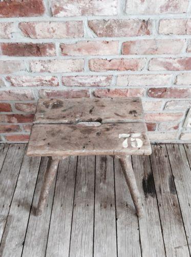 Hocker Schemel Beistelltisch Holz Industriedesign Loft vintage alt - vintage holzverkleidung
