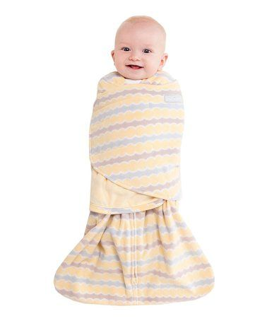 f278d50c6 Loving this Yellow Wave Swaddle Fleece Wearable Blanket - Infant on ...