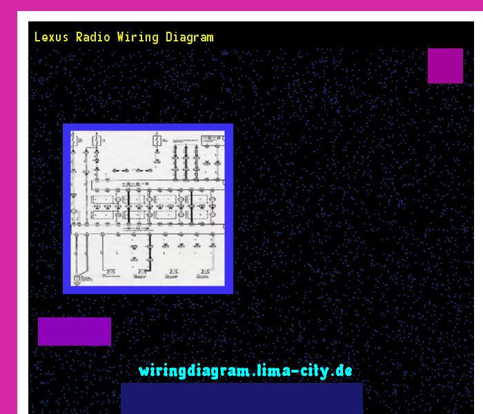 Lexus Radio Wiring Diagram  Wiring Diagram 175713