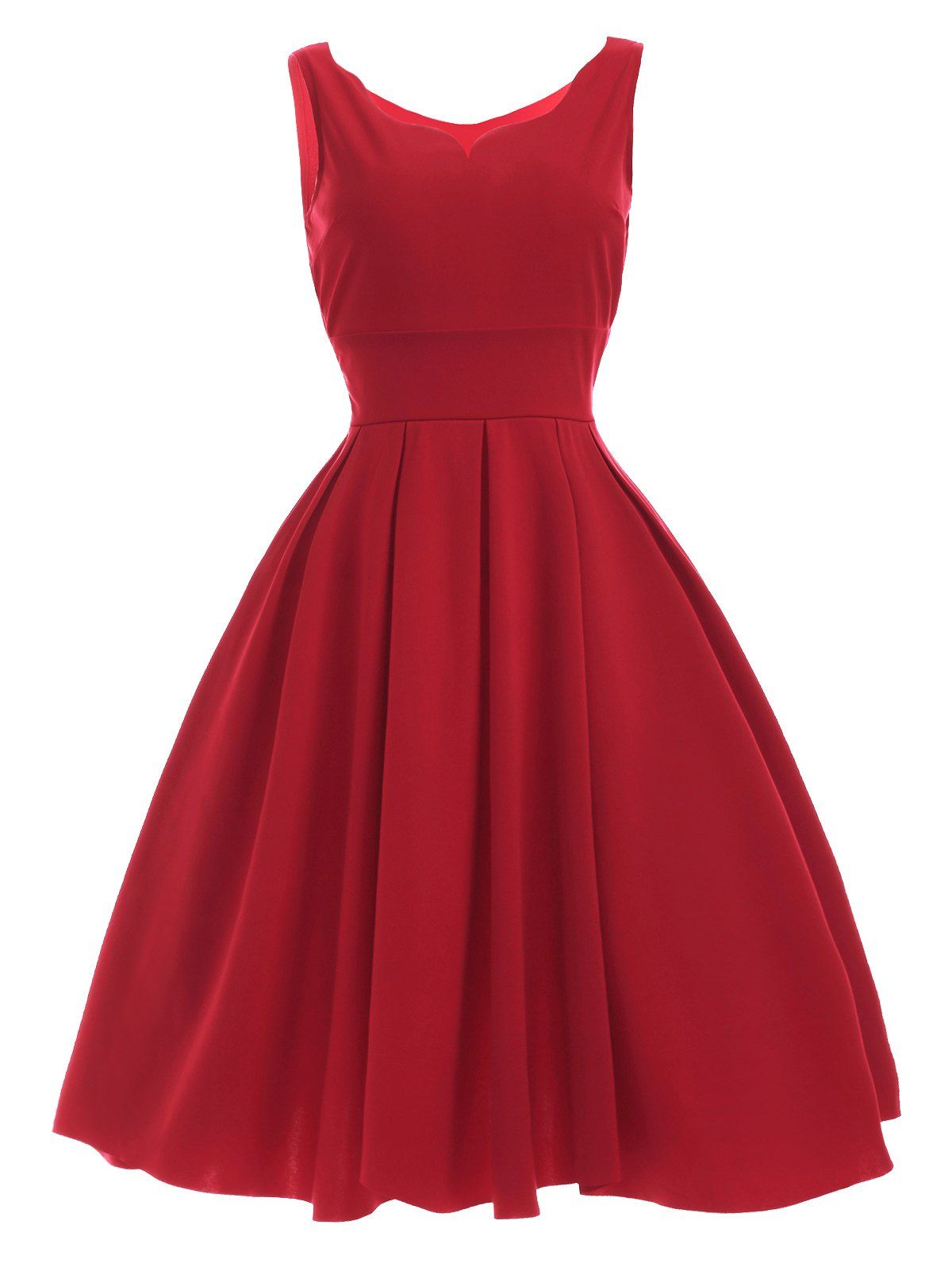 vintage cut red dress