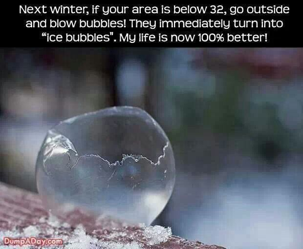 Ice bubbles - something to try this Christmas!
