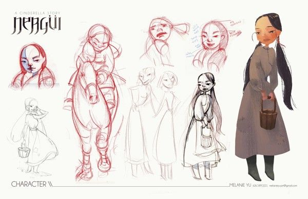 NERGUI - A CINDERELLA STORY on Character Design Served