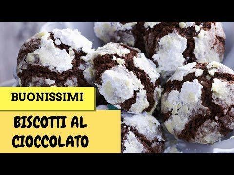 Biscotti al Cioccolato con cuore morbido di Nutella - YouTube