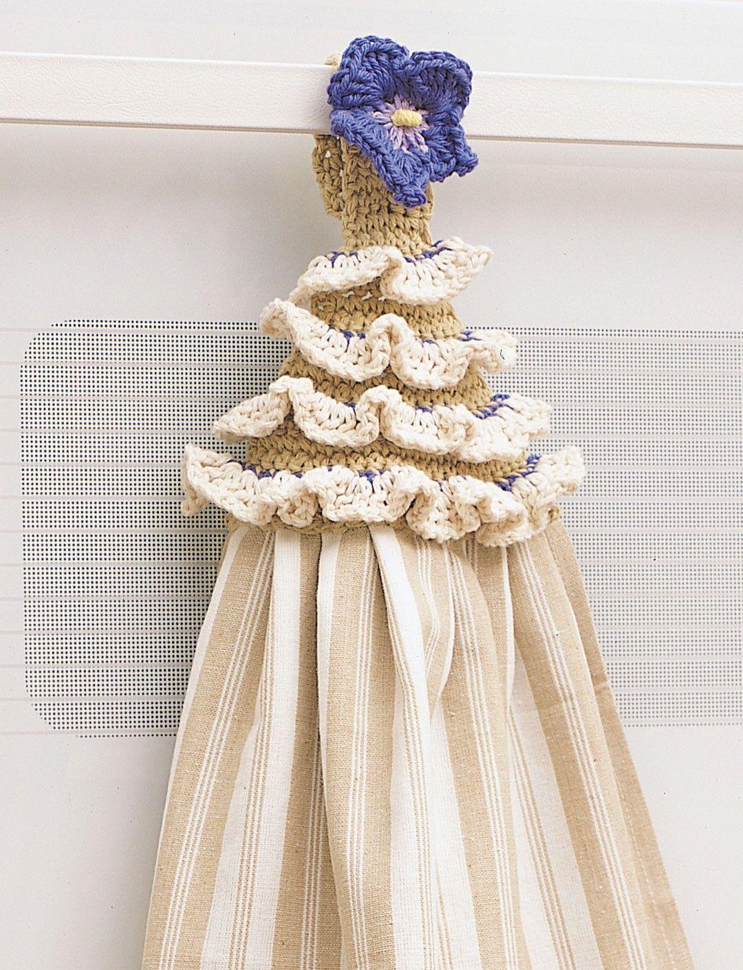 free crochet pattern from Yarnspirations.com - Bernat Pansy Towel ...