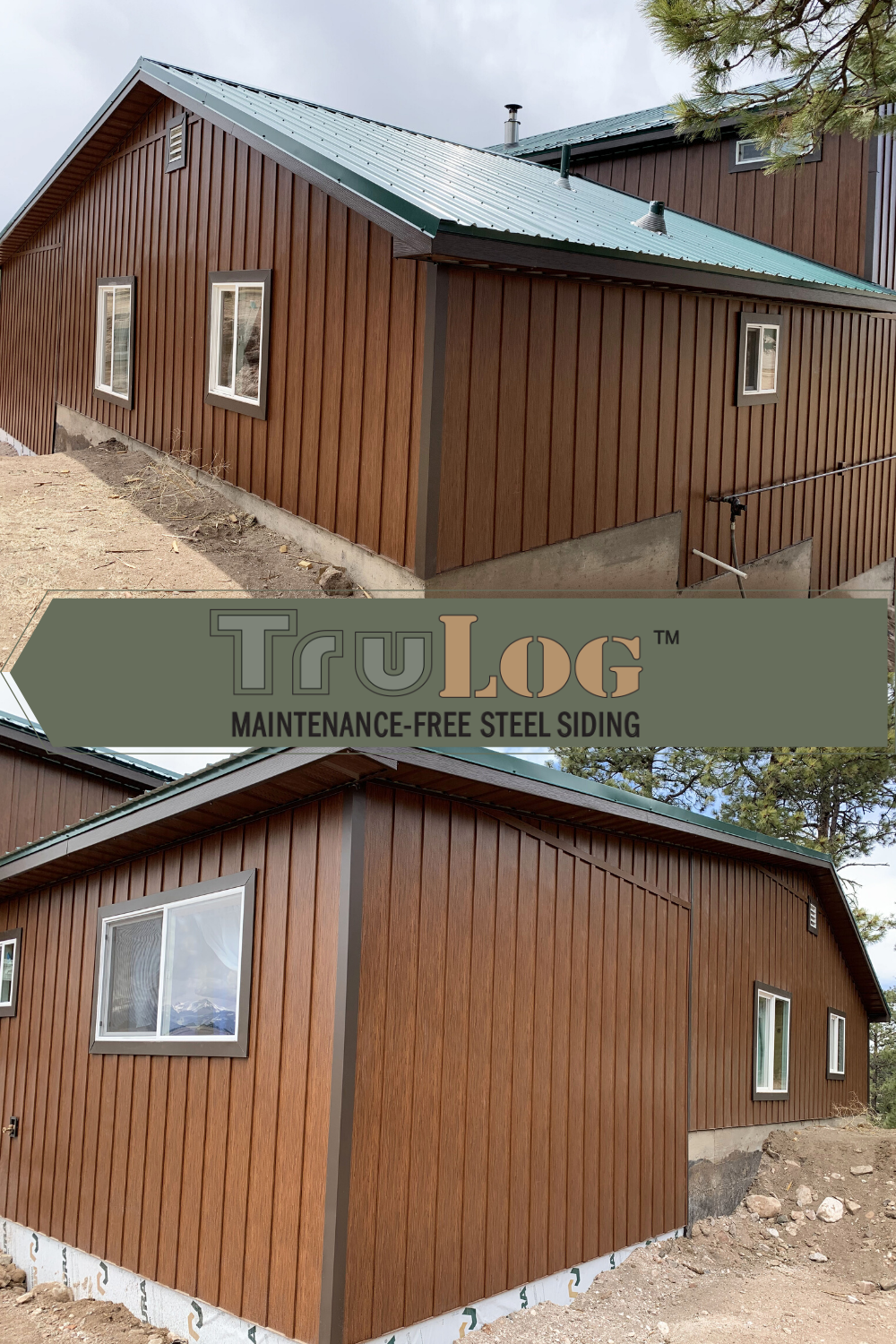 Trulog Steel Board And Batten Siding In 2020 Steel Siding Paint Your House Siding