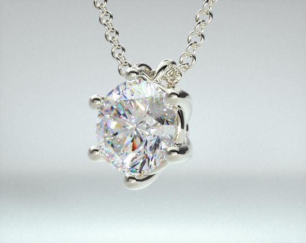 14K White Gold Wire Basket Diamond Pendant (0.33 ctw.) | Wire basket ...