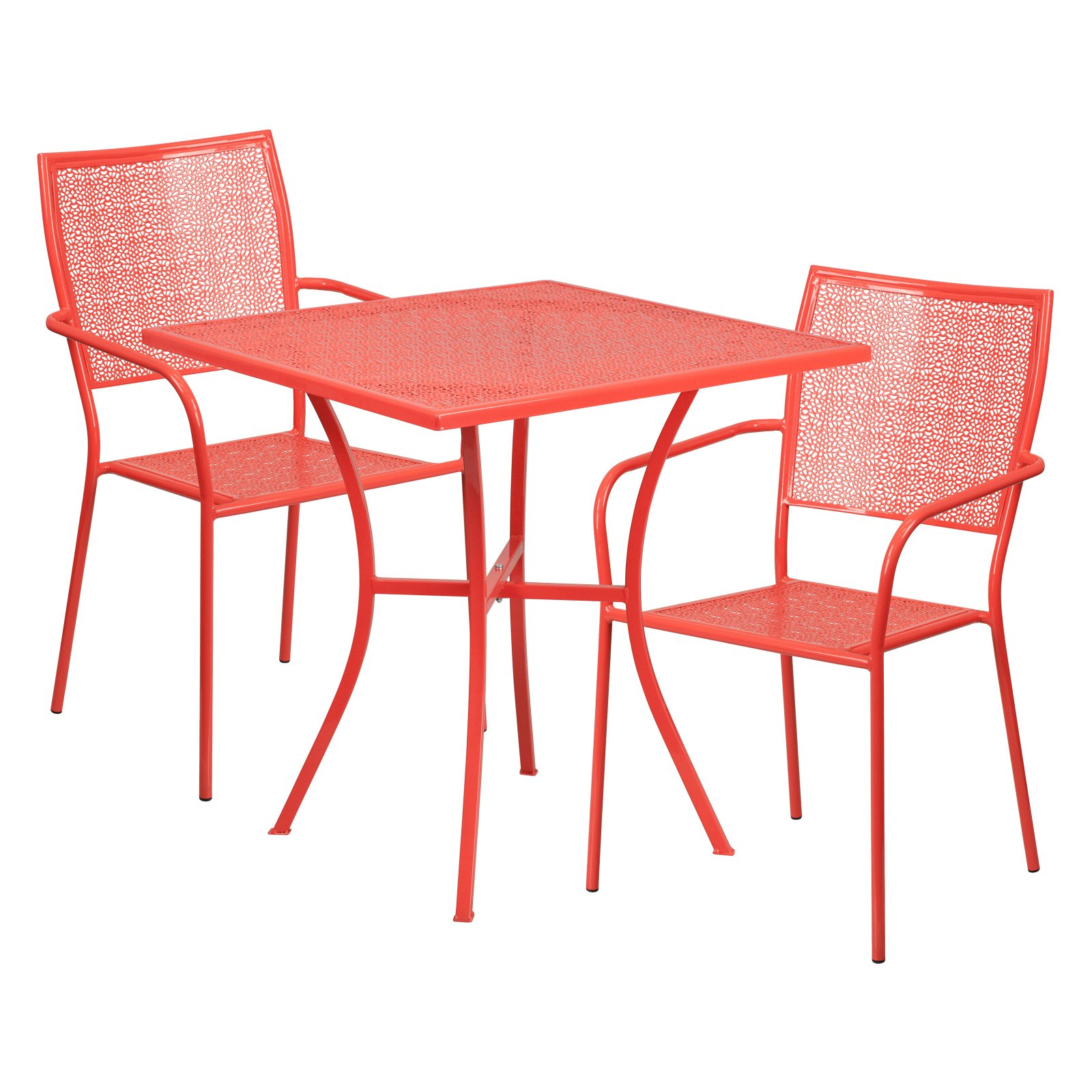 outdoor flash furniture steel square patio bistro set in 2019 rh pinterest com