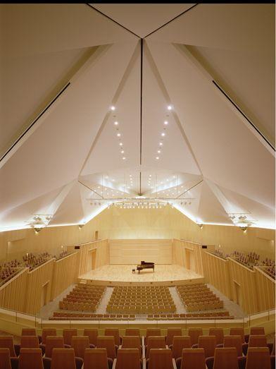 Maki And Associates Concert Hall Hall Design Architecture
