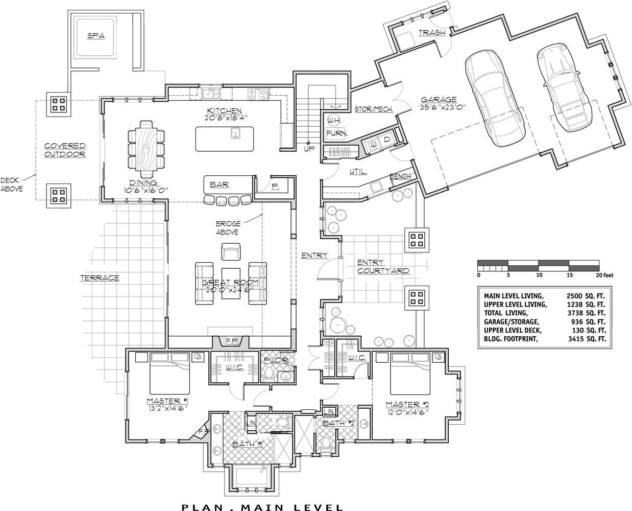 1st Floor Plan Image Of Luxury Lakehouse Http Www Thehousedesigners Com Plan Luxury Lakehouse 9046 House Plans Craftsman Floor Plans Vacation House Plans