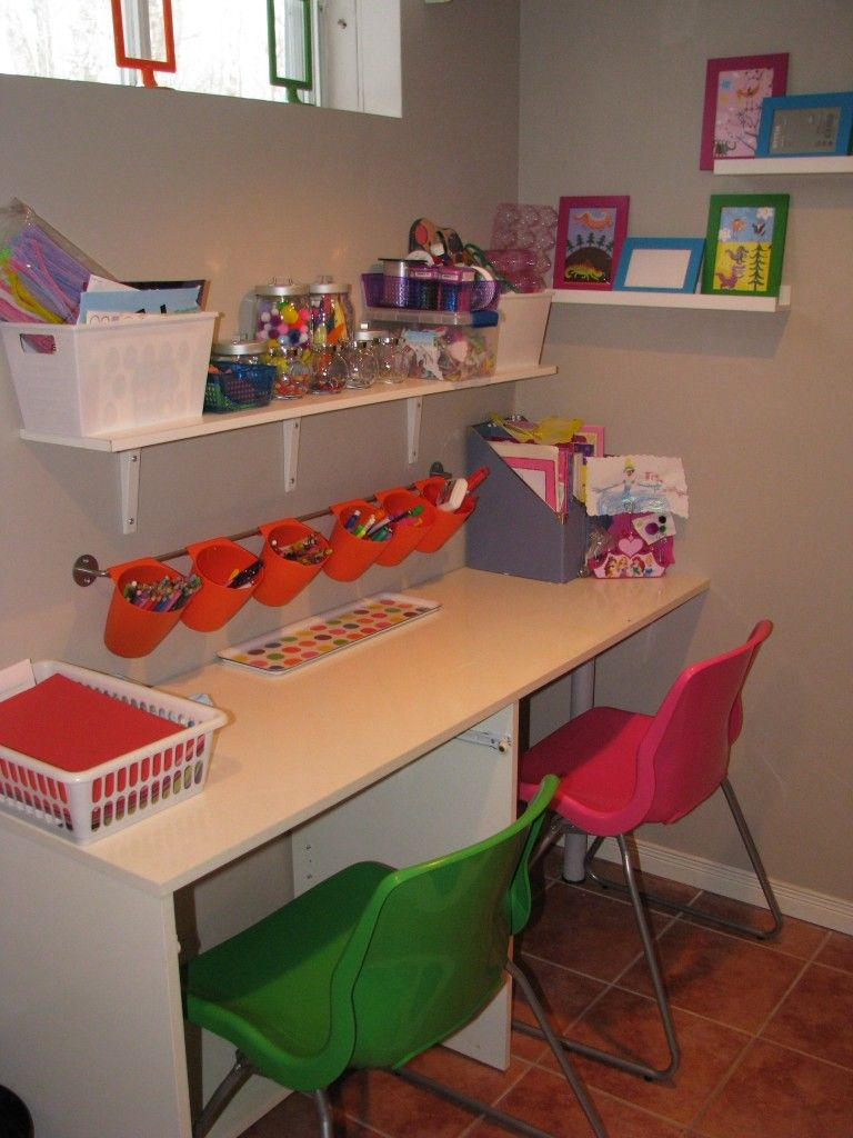 Creating A Diy Kids Zone Kids Desk Organization Kids Desk