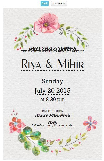 60th wedding anniversary invitation card httpswwwgrouptablecom invitation