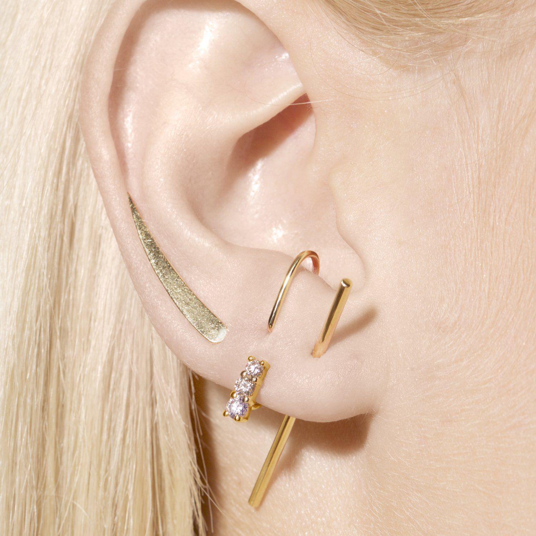 c04e1bd2b Small Gold Stick Earring in 2019 | Jewelry Inspiration | Earrings ...