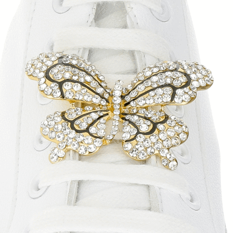 Large Butterfly Shoe Charm