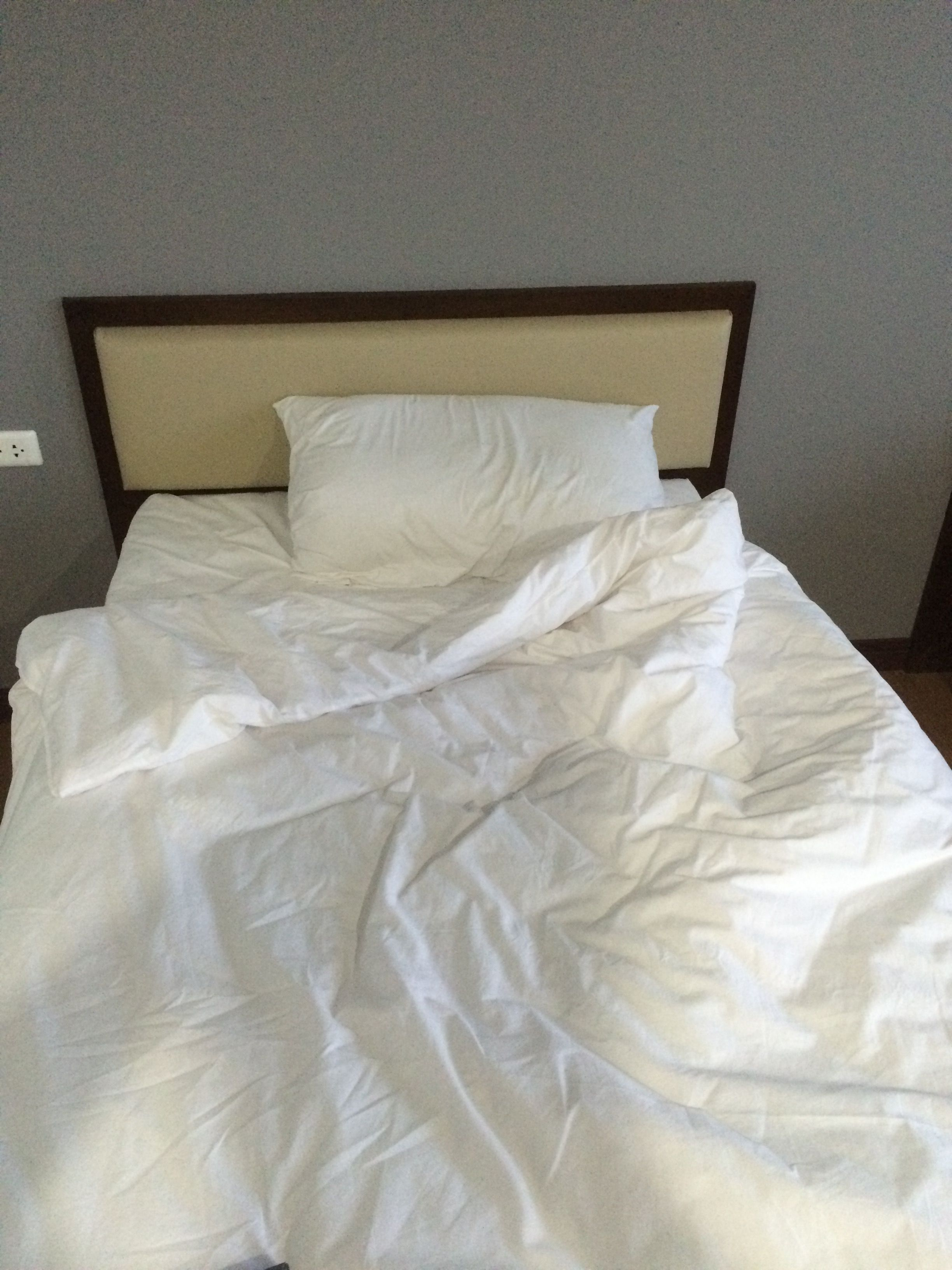 After going to SE Asia several times, discovered they don't normally put sheets on a bed. Hmm
