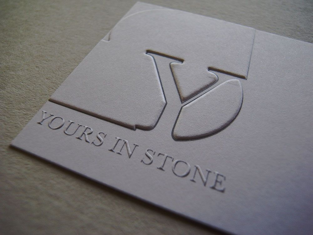 Deep debossing for a luxury effect debossing pinterest unusual business cards embossed business cards and engraved stationery london uk reheart Image collections