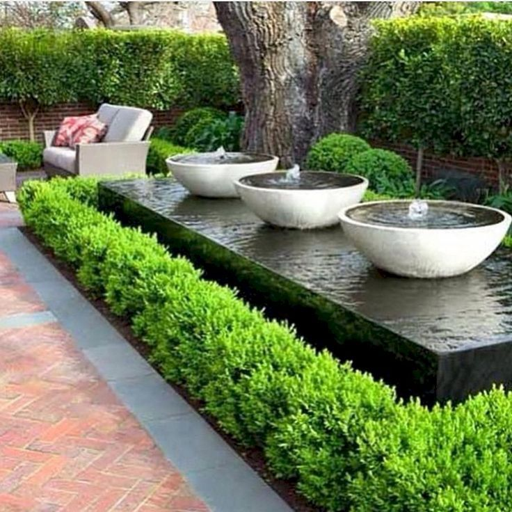 80 Fresh Water Feature for Front Yard and Backyard Landscaping - #backyard #Feature #Fresh #Front #landscaping #Water #Yard #modernfrontyard